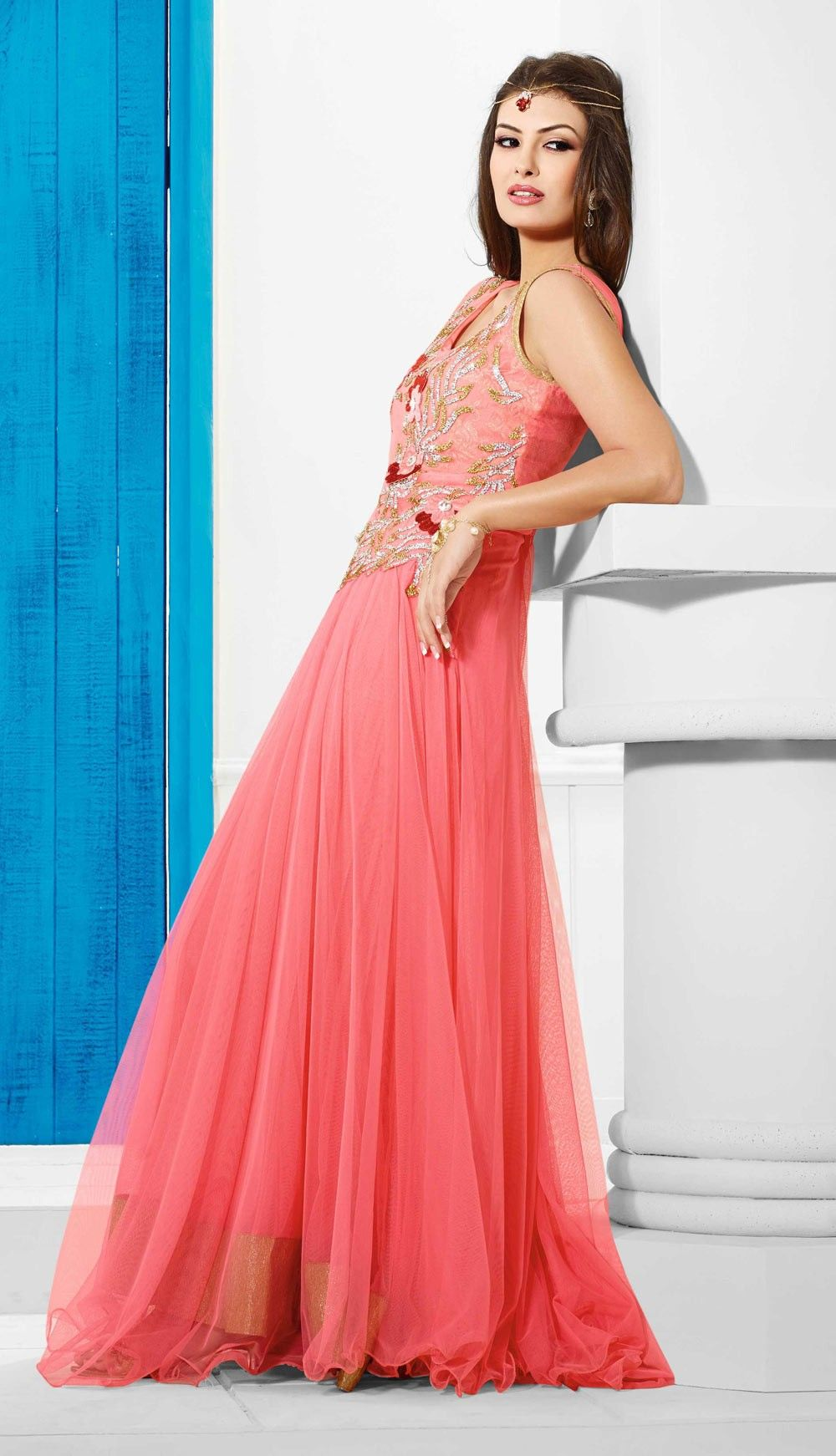 pink-long-evening-gown-for-party- | Long Party Dress | Pinterest