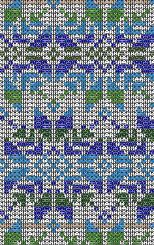 Подбор цветовой гаммы для вязания жаккардового узора | fair isle ...