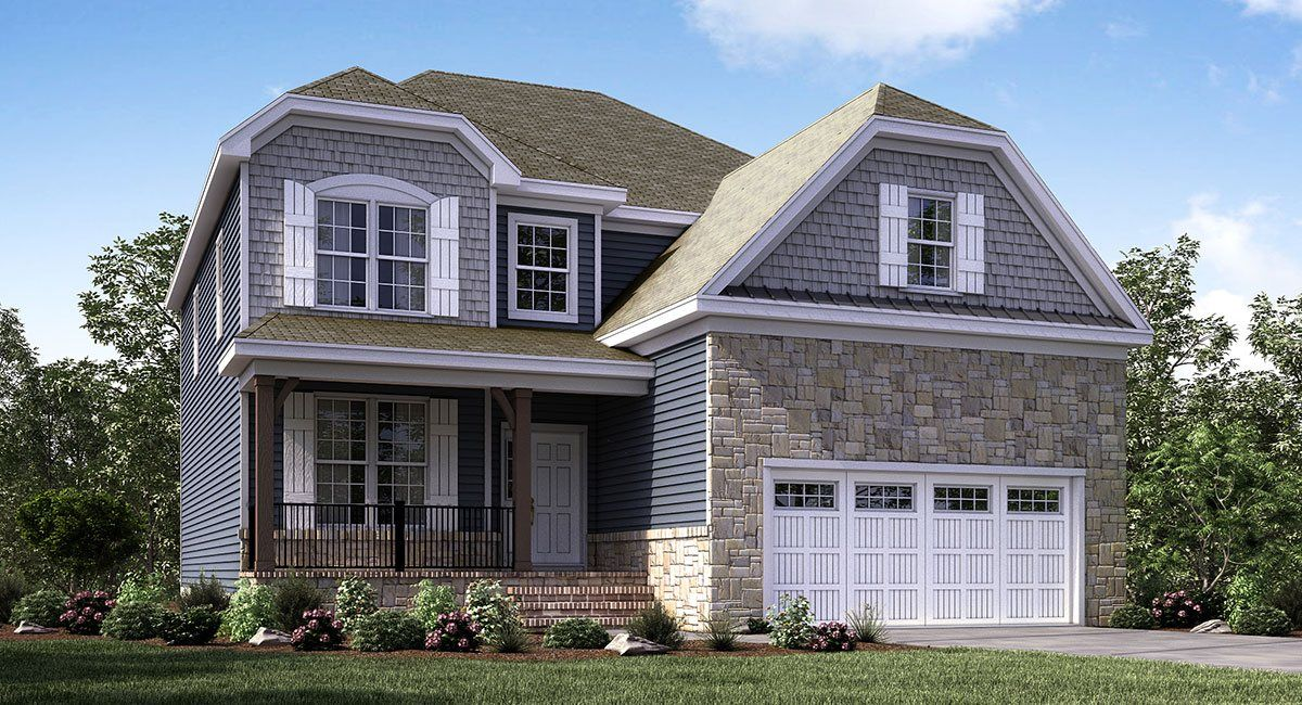 Lennar at Edgewater in Apex, NC - Luxury 3-story, 2-car garage - best of blueprint construction garner nc