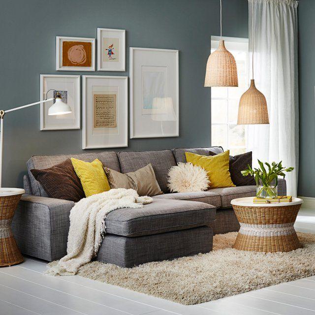 Canapé cosy avec méridienne, Ikea
