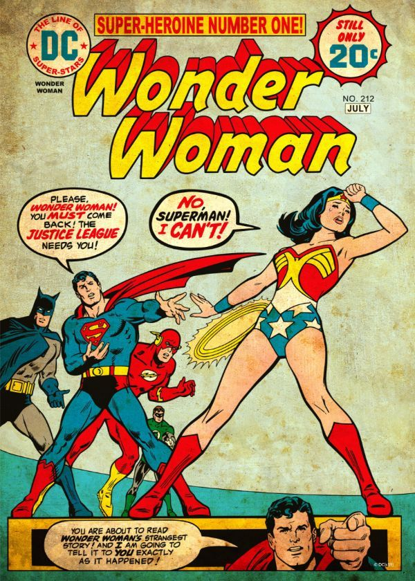 Official DC Comics Classic Covers Wonder Woman 212 By Bob Oksner #Displate artwork by… | Displate thumbnail