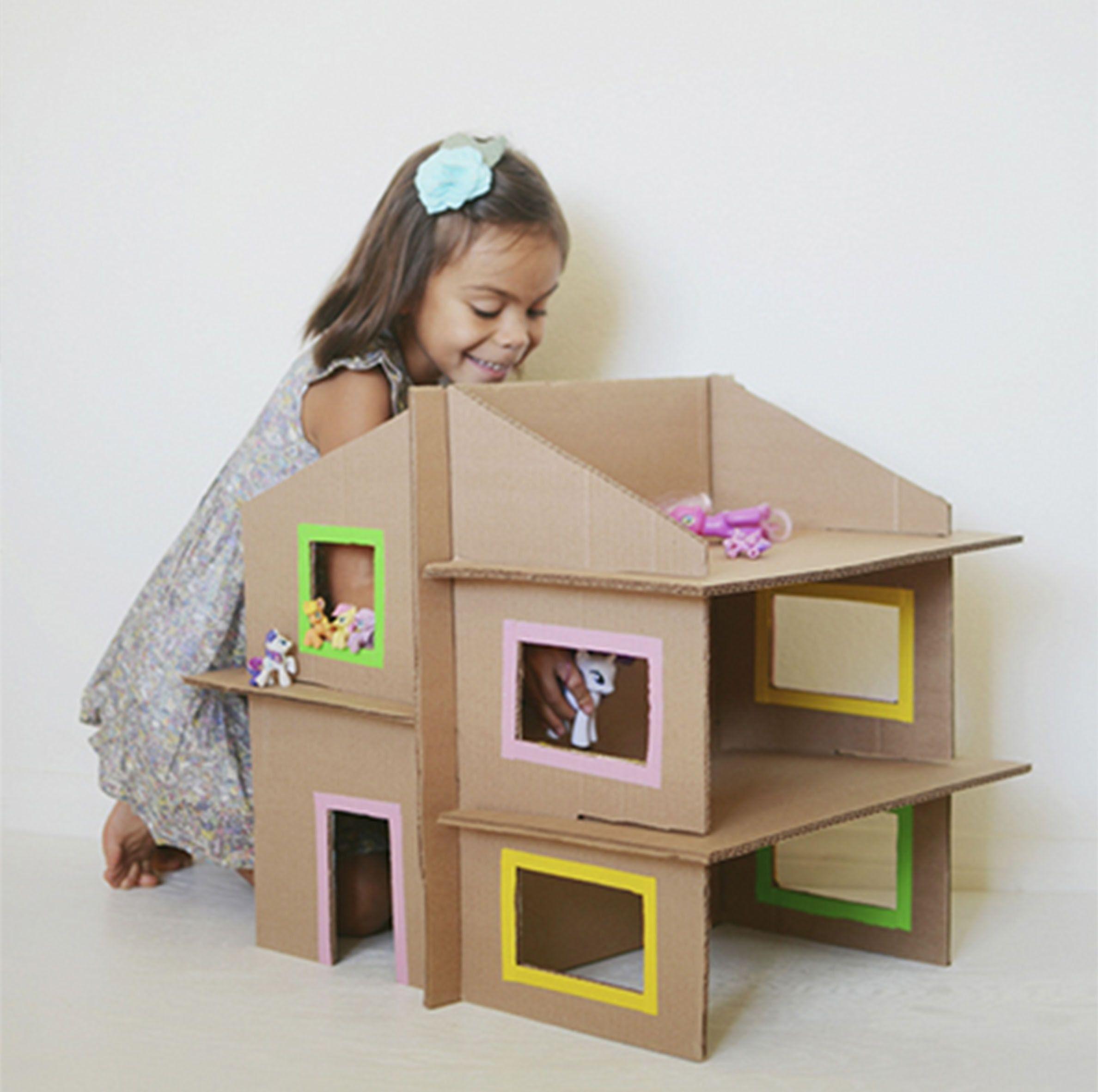 casa carton niños