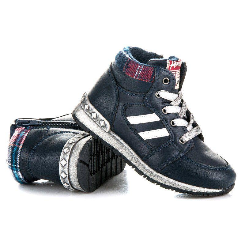 Polbuty I Trzewiki Dzieciece Dla Dzieci Americanclub Niebieskie Chlopiece Trzewiki American Club Shoes Adidas Sneakers Sneakers