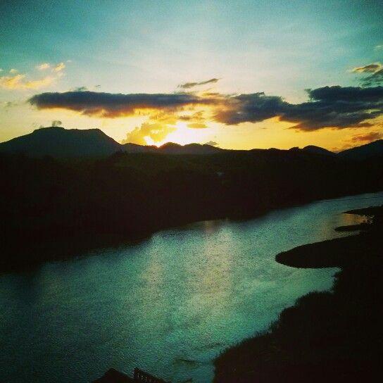 Sunset no estado do Espirito Santo Brasil