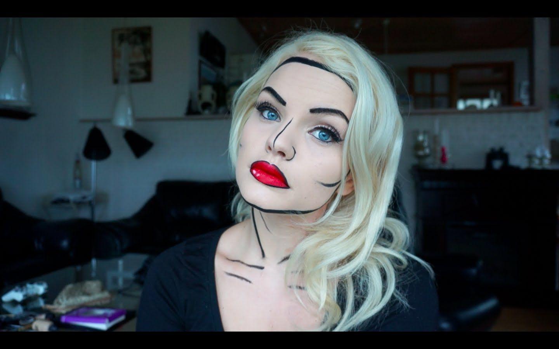 comic book makeup tutorial / super quick and easy halloween makeup