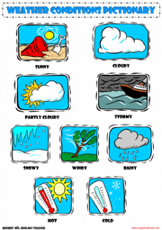 a picture dictionary for weather conditions teaching the kids esl efl pinterest picture. Black Bedroom Furniture Sets. Home Design Ideas