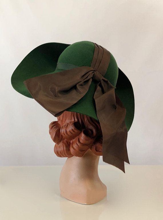a7c16ec6f8c RESERVED 1940 s Valerie Modes New York Creation Kelly 1950s Hats