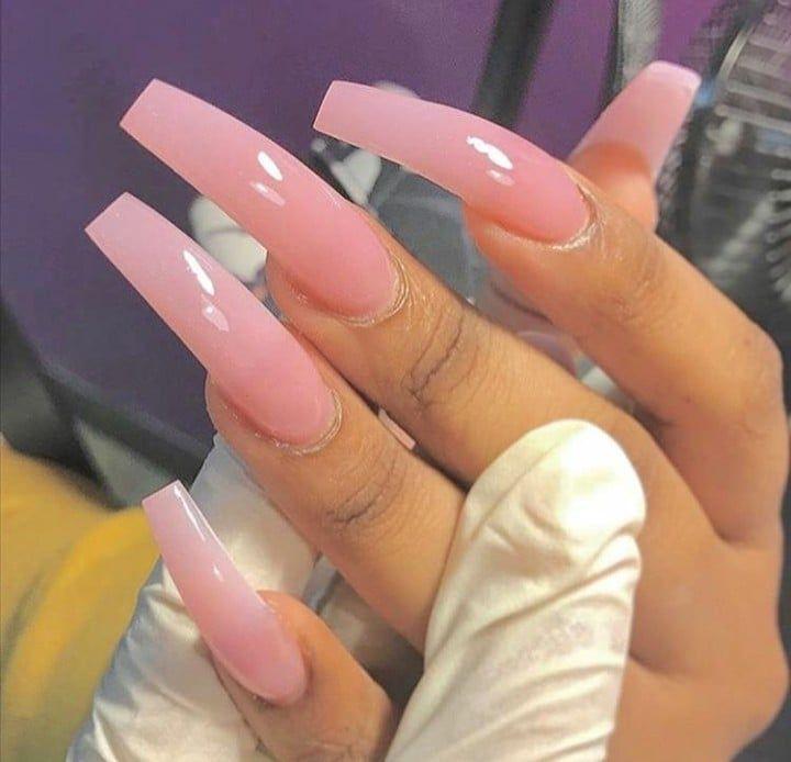 50 Amazing Natural Pink Nails Design For Stylish Lady With Images Pink Nails Long Acrylic Nails Long Nails