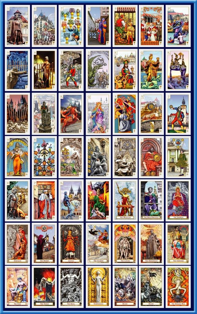Tarot Deck Tarot Of Prague