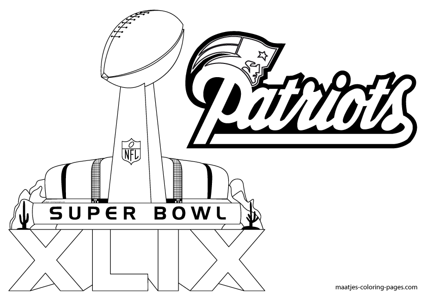 superbowl coloring pages for kids | Super Bowl Trophy Coloring Pages | New england patriots ...
