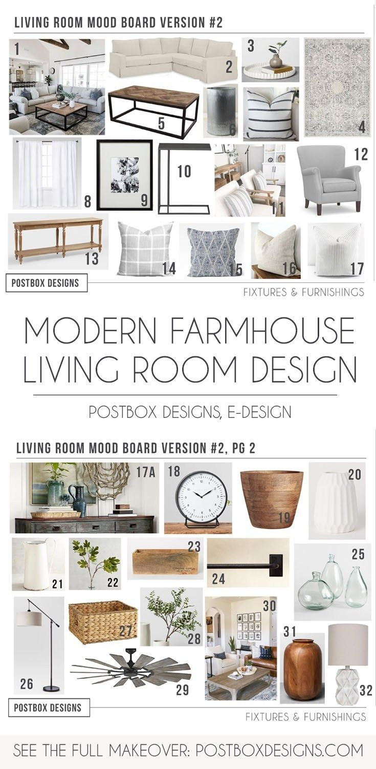 5 Ways to a Polished Modern Farmhouse Living Room - Postbox Designs