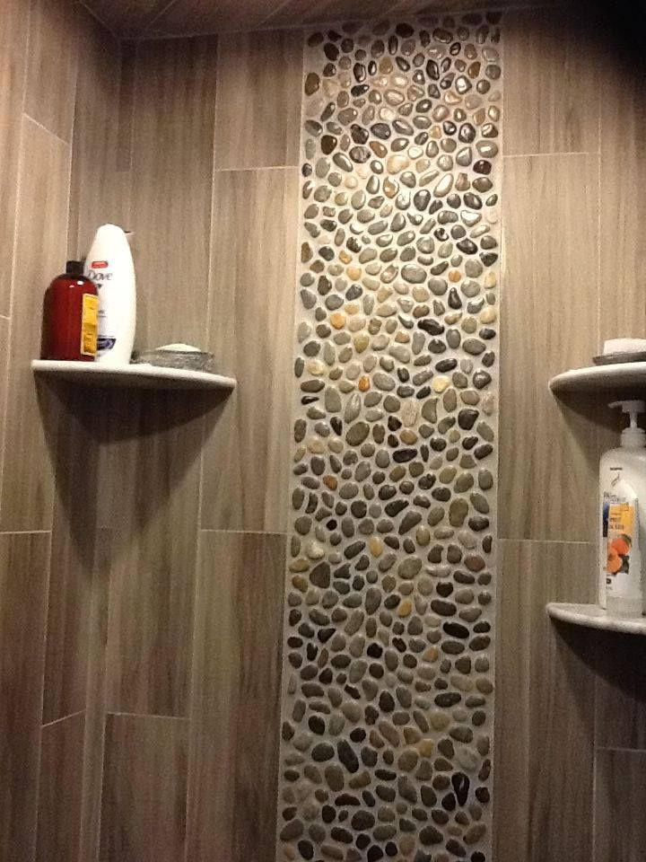 Stone Mosaic On Shower Area Wall Totally Do Able