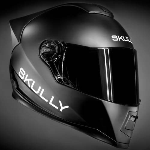 98bcfc4a skully black. Bluetooth, GPS, and HUD. Yeah. Motorcycle Helmet Design,