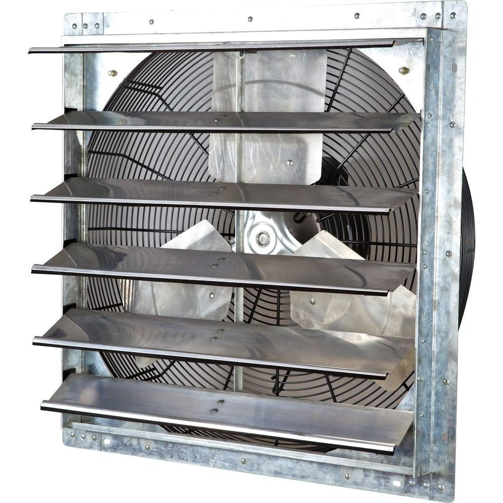 Iliving 4244 Cfm Silver Electric Powered Gable Mount Shutter Fan Vent Ilg8sf24v The Home Depot Ruko