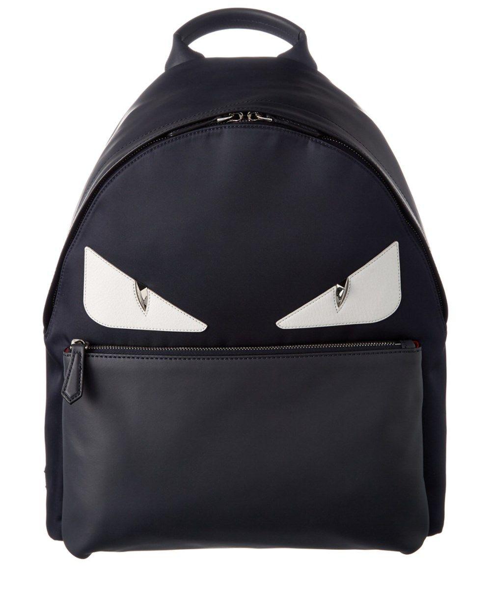 FENDI Fendi Bug Crystal Nylon &Amp; Leather Backpack'. #fendi #bags #leather #crystal #nylon #backpacks #lining #