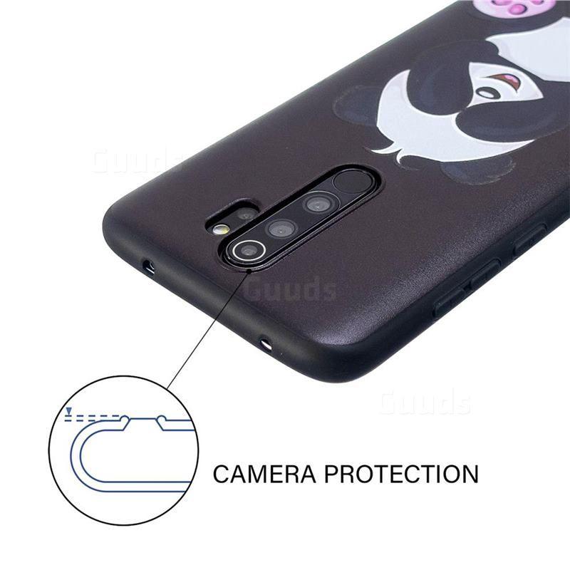 Lovely Panda 3d Embossed Relief Black Soft Back Cover For Mi Xiaomi Redmi Note 8 Pro Xiaomi Redmi Note 8 Pro Cases Guuds Panda 3d Panda Cover