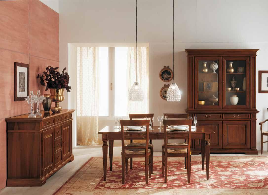 Muebles sal n comedor vajillero mesa y vitrina for Muebles rusticos toledo