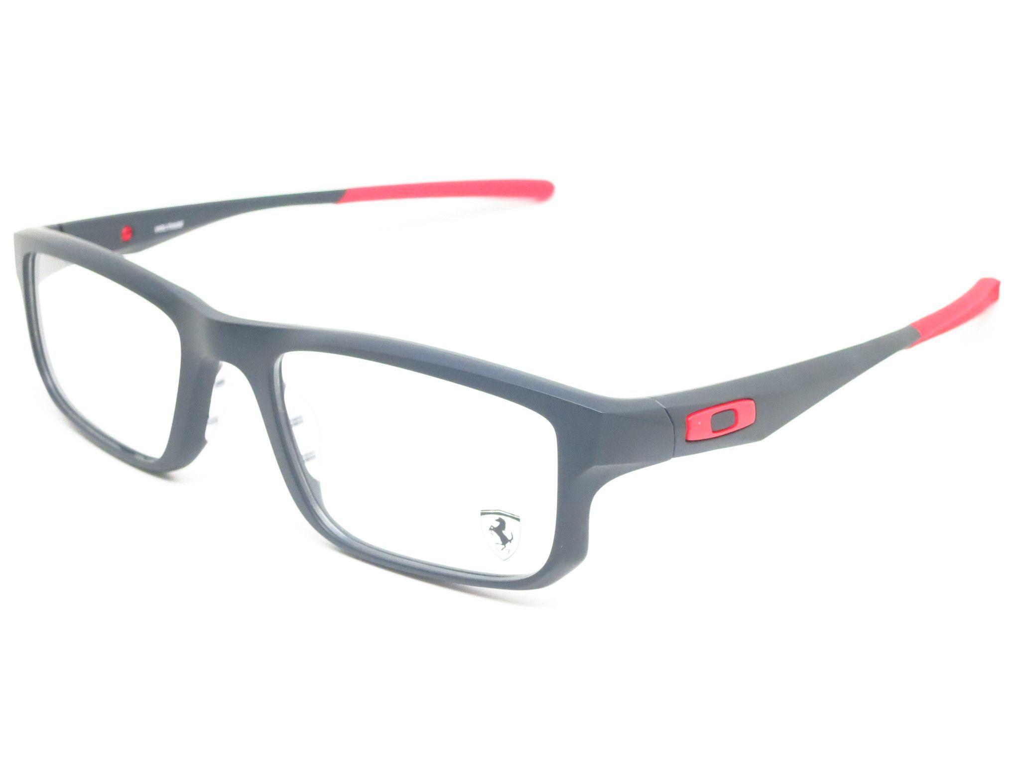 Oakley Voltage Scuderia Ferrari Ox8049 0753 Satin Black Eyeglasses Oakley Glasses Oakley Eyeglasses