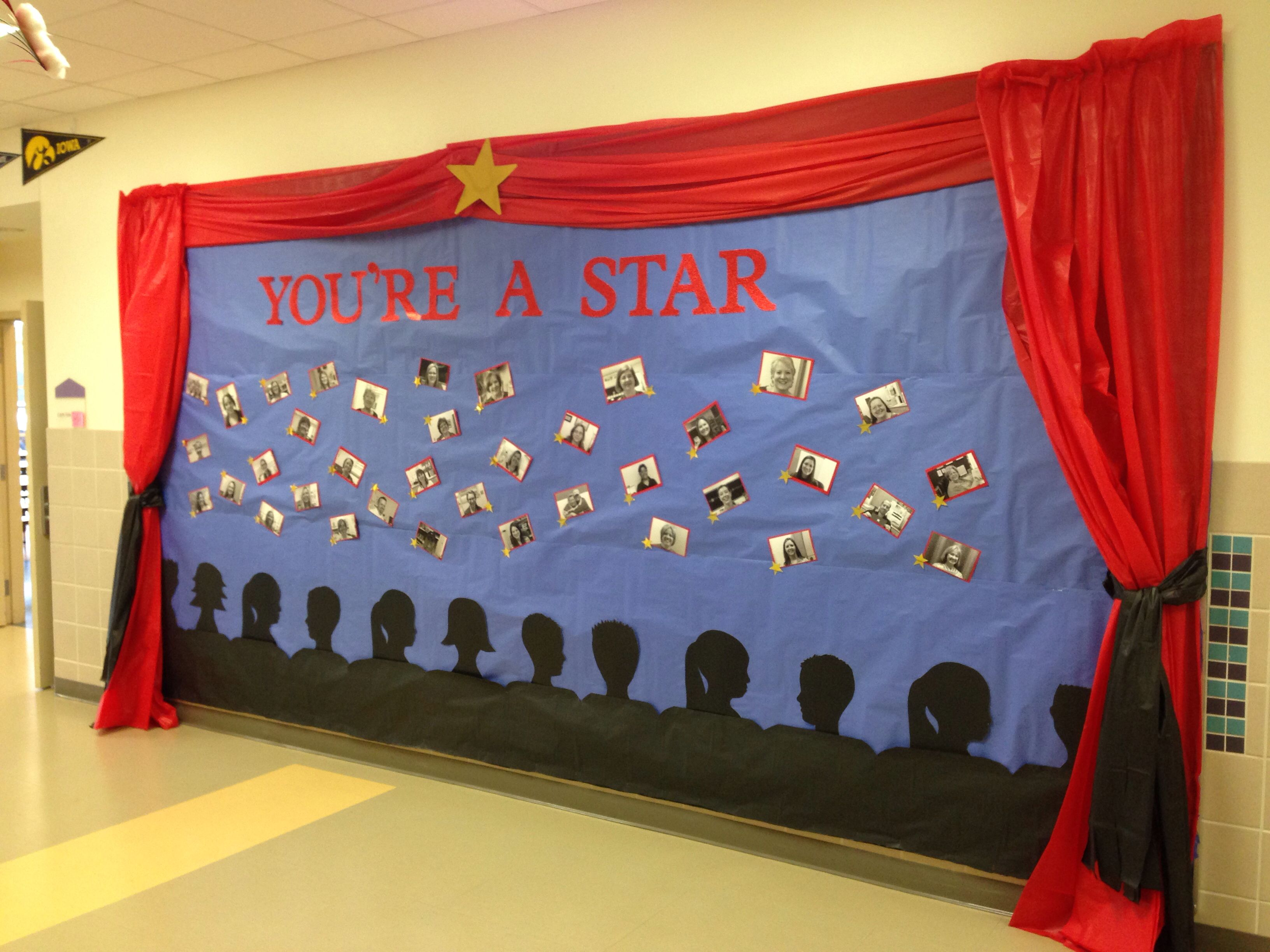 Bulletin board - you're a star - teacher appreciation week