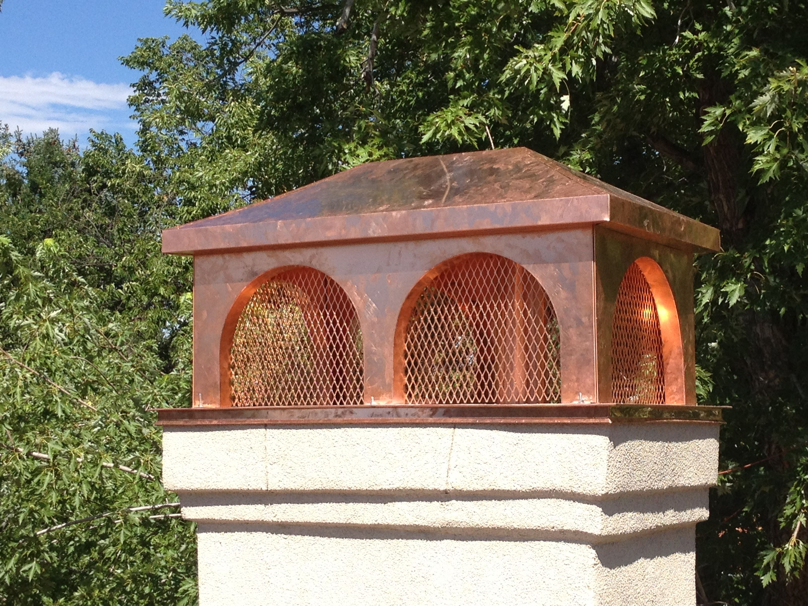 Italian Style Copper Chimney Cap Raleighroofing@Yahoocom