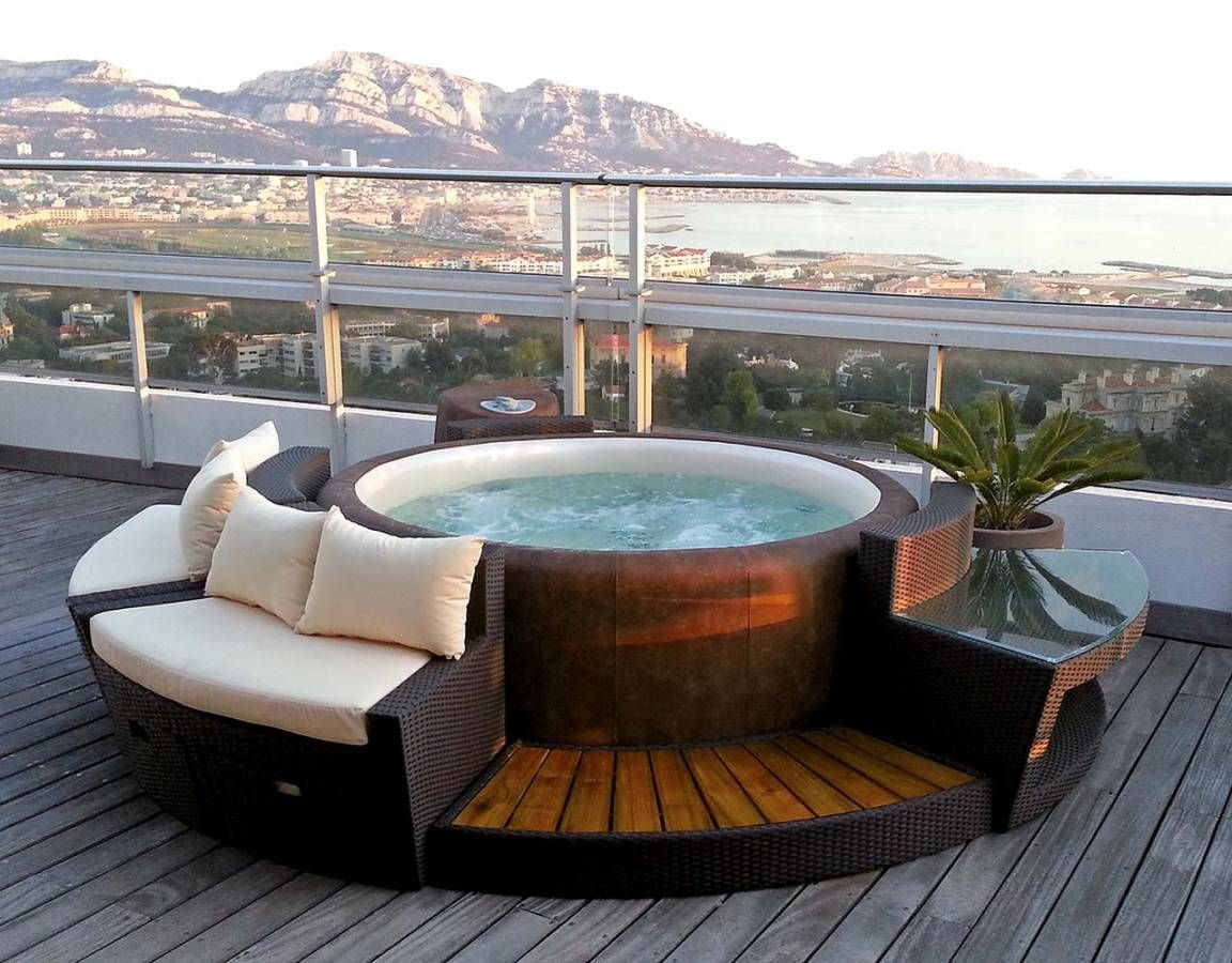 Piscine Jacuzzi Exterieur Piscine Et Spa 2016, Living Pool | Jardin | Pinterest