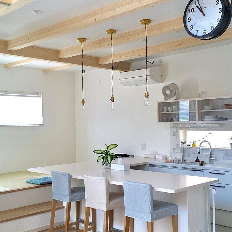 キッチン カフェ風 小上がりの畳コーナー ニトリ こだわりの家 など