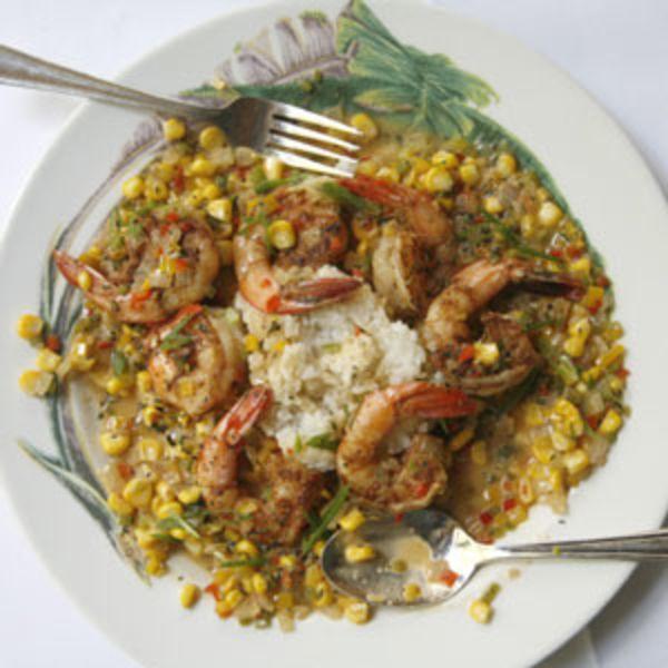 Maque Choux and Shrimp Recipe #cajundishes