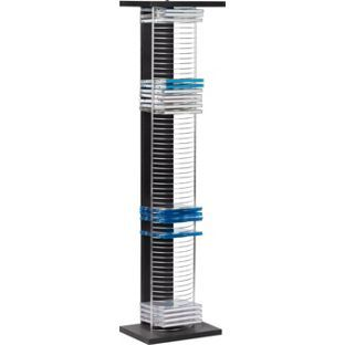 Buy HOME DVD and CD Media Storage Tower Unit - Black and Silver at Argos.  sc 1 st  Pinterest & Buy HOME DVD and CD Media Storage Tower Unit - Black and Silver at ...