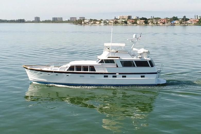 1968 Burger 64 Flush Deck Motor Yacht Power Boat For Sale With