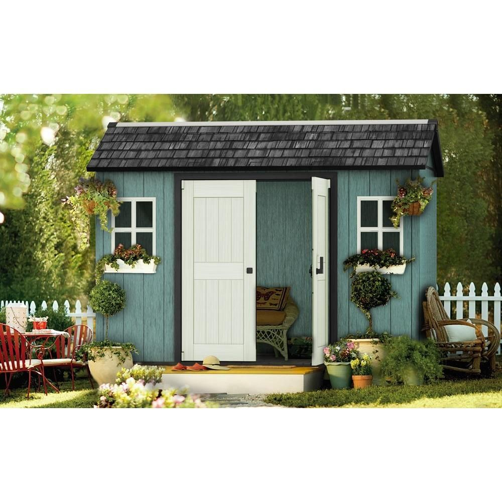 Home Depot Sheds For Sale Keter My Shed 11 Ft X 7 5 Ft Fully Customizable Storage Shed In