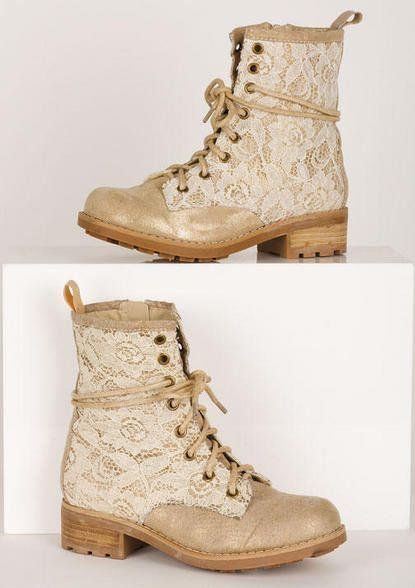 Tan lace boots - I could fix mine up...