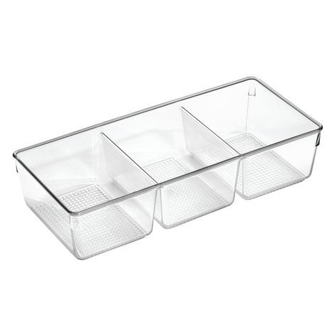 Best Mainstays Mainstays 3 Compartment Clear Cosmetic Organizer 400 x 300