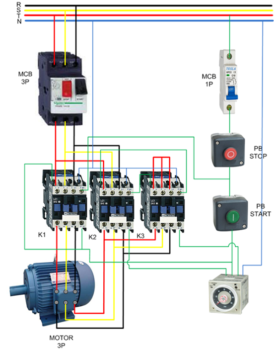 auto star delta connection for 3 phase asd electrical engineeringauto star delta connection for 3 phase asd