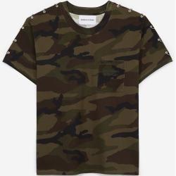 Photo of The Kooples – Camo Print & Piercings T-Shirt – Men