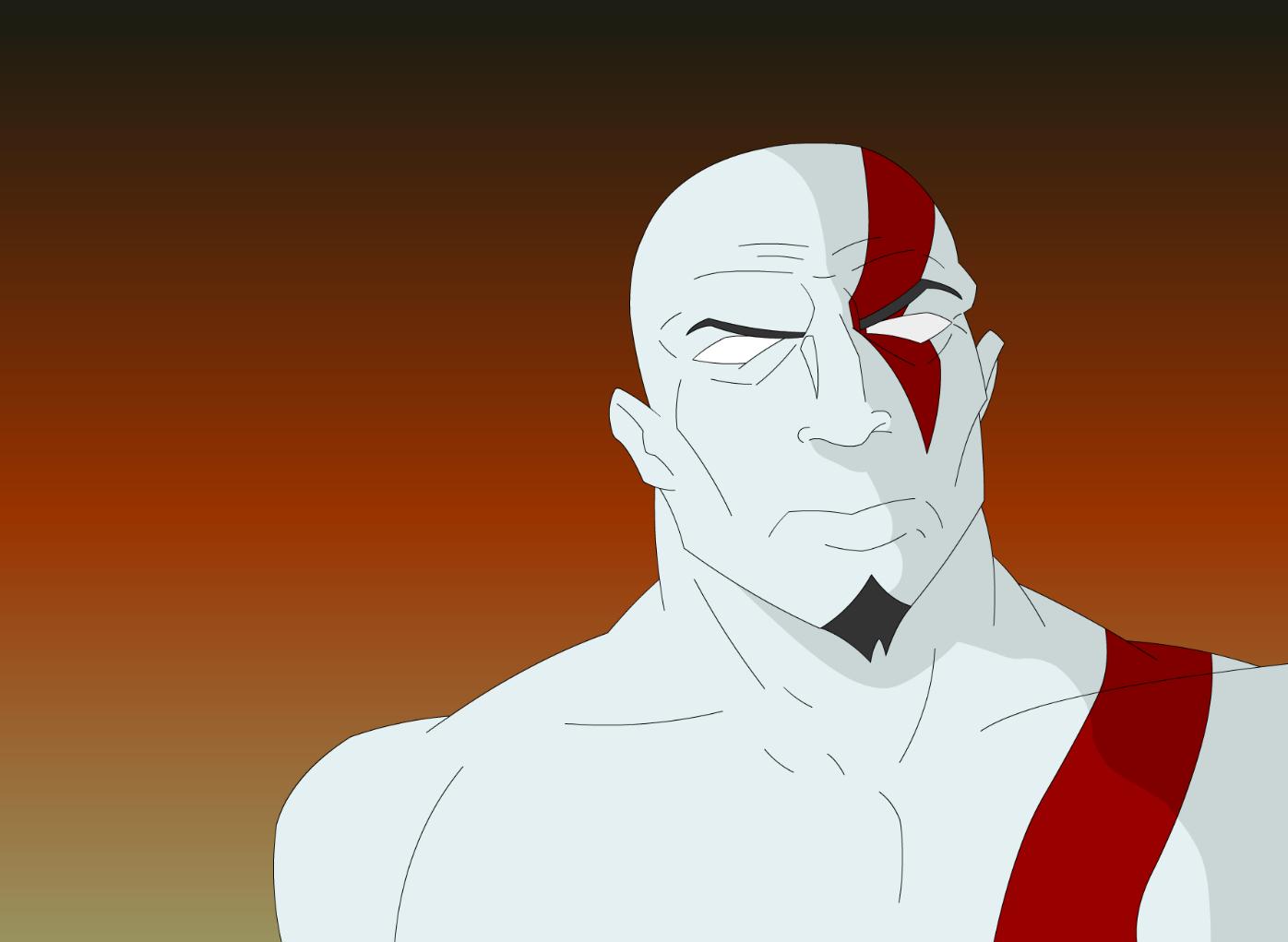 """Un frame de una prueba de animación. Si quieres ver la animación, pícale al botón """"vistar"""" pa´que veas a Kratos en movimiento."""