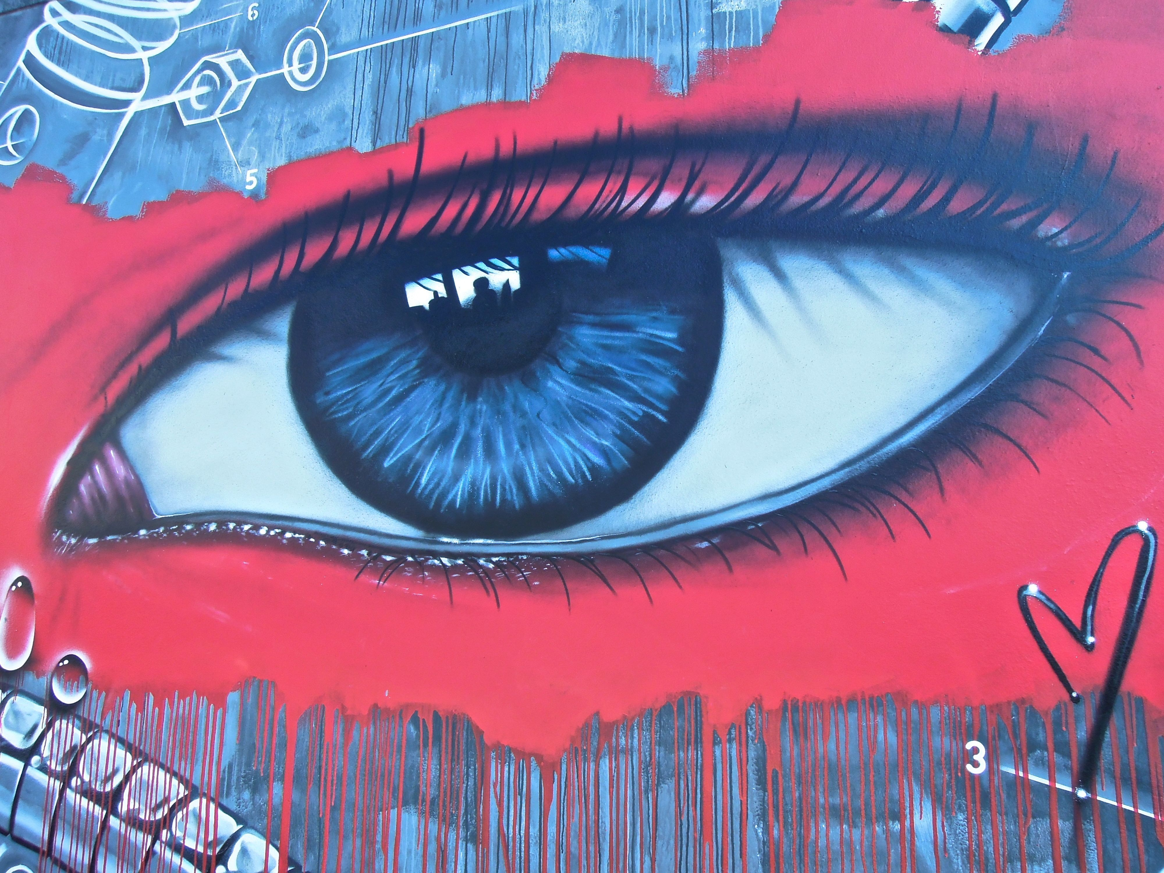 Detail of a mural by My Dog Sighs on Exmouth Road, Southsea