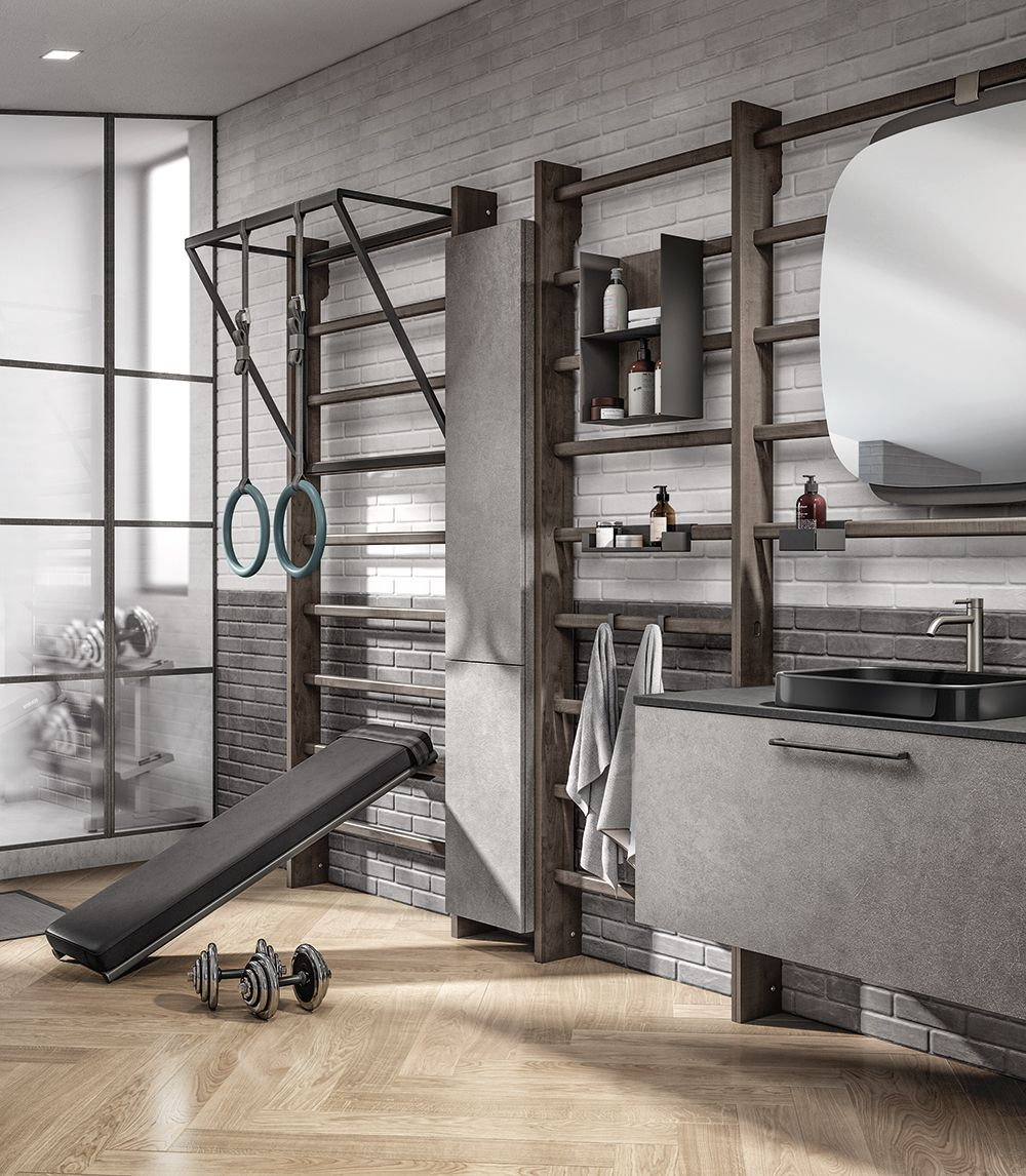 Cappa Miele A Scomparsa a functional look for your home fitness area: wall bars in