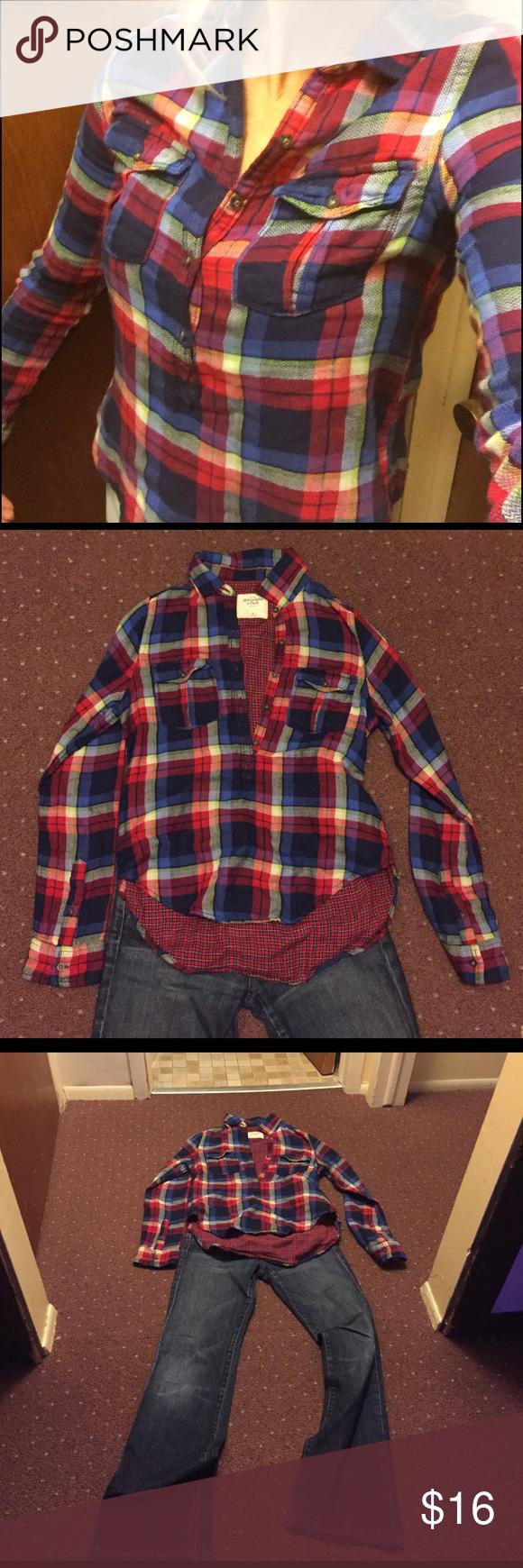 Flannel shirt under suit  Flannel Abercrombie soft flannel shirt  My Posh Closet