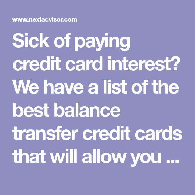 Pay No Credit Card Interest Until 2020 Credit card