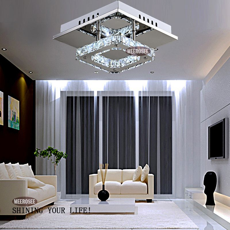 Find More Chandeliers Information About Square Led Crystal Chandelier Light For Aisle Porch Hallway Stairs Wth Bulb 12 Watt 100 Guarantee High
