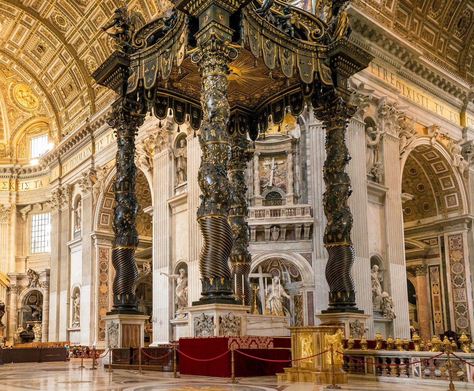 St. Peter's Baldachin (Italian baldacchino) is a large