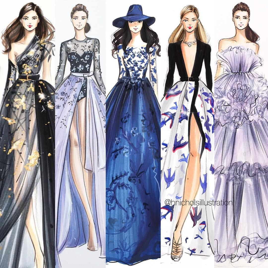 Favorites From Couture Week From Left To Right Elie Saab Ralph And Russo Illustrations