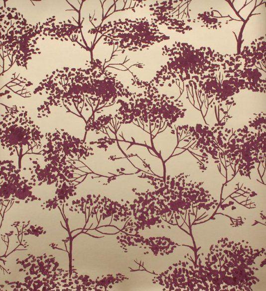 Tivoli woods wallpaper Tree design in shades of light burgundy on - goldene tapete modern design