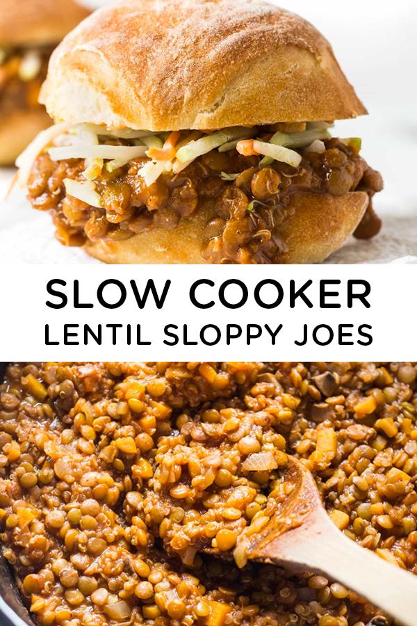 Slow Cooker Lentil Sloppy Joes - SIMPLY QUINOA RECIPES -