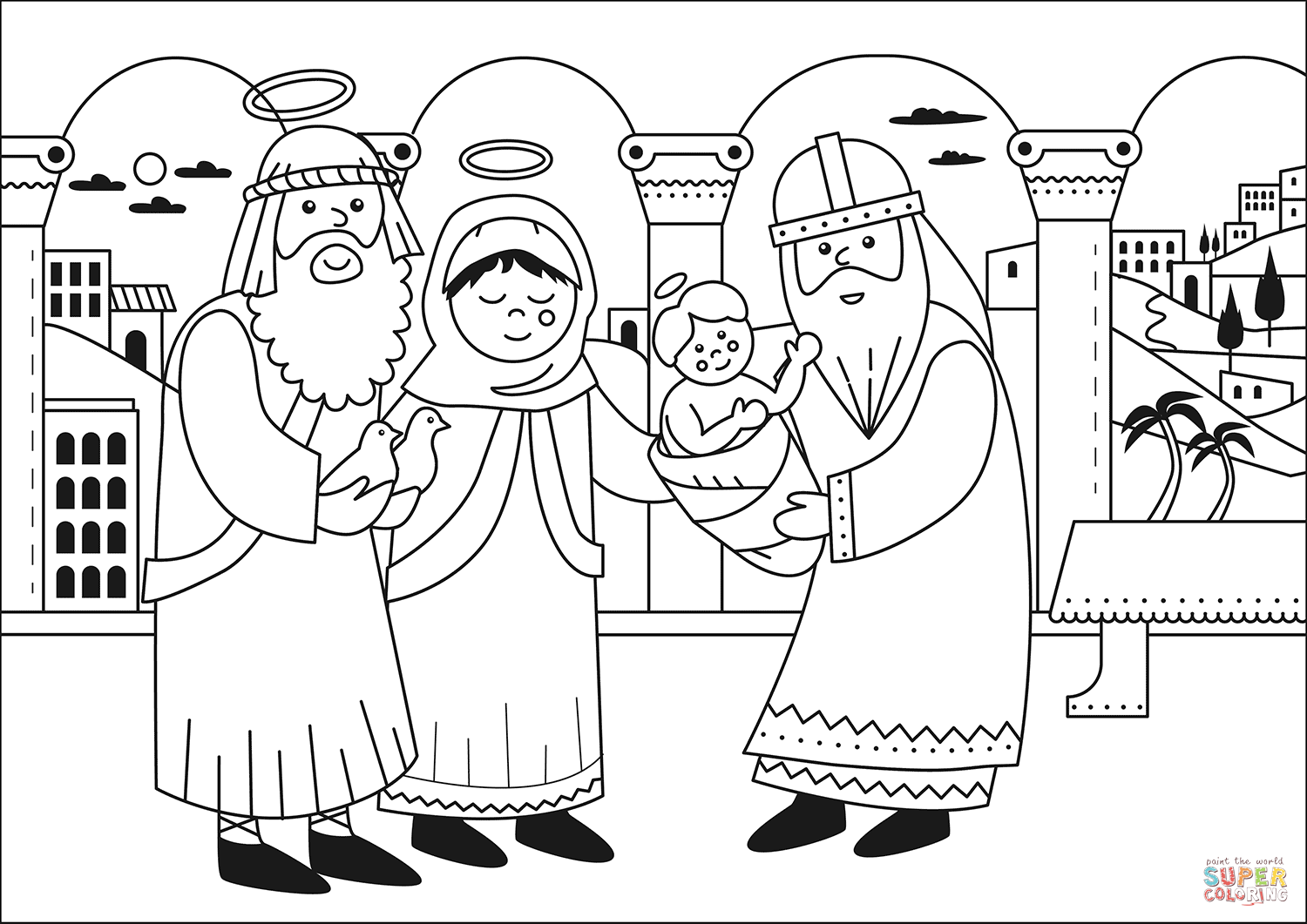 Candlemas Coloring Page
