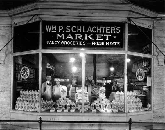 Wm P Schlachter S Market Grocery Store Front In