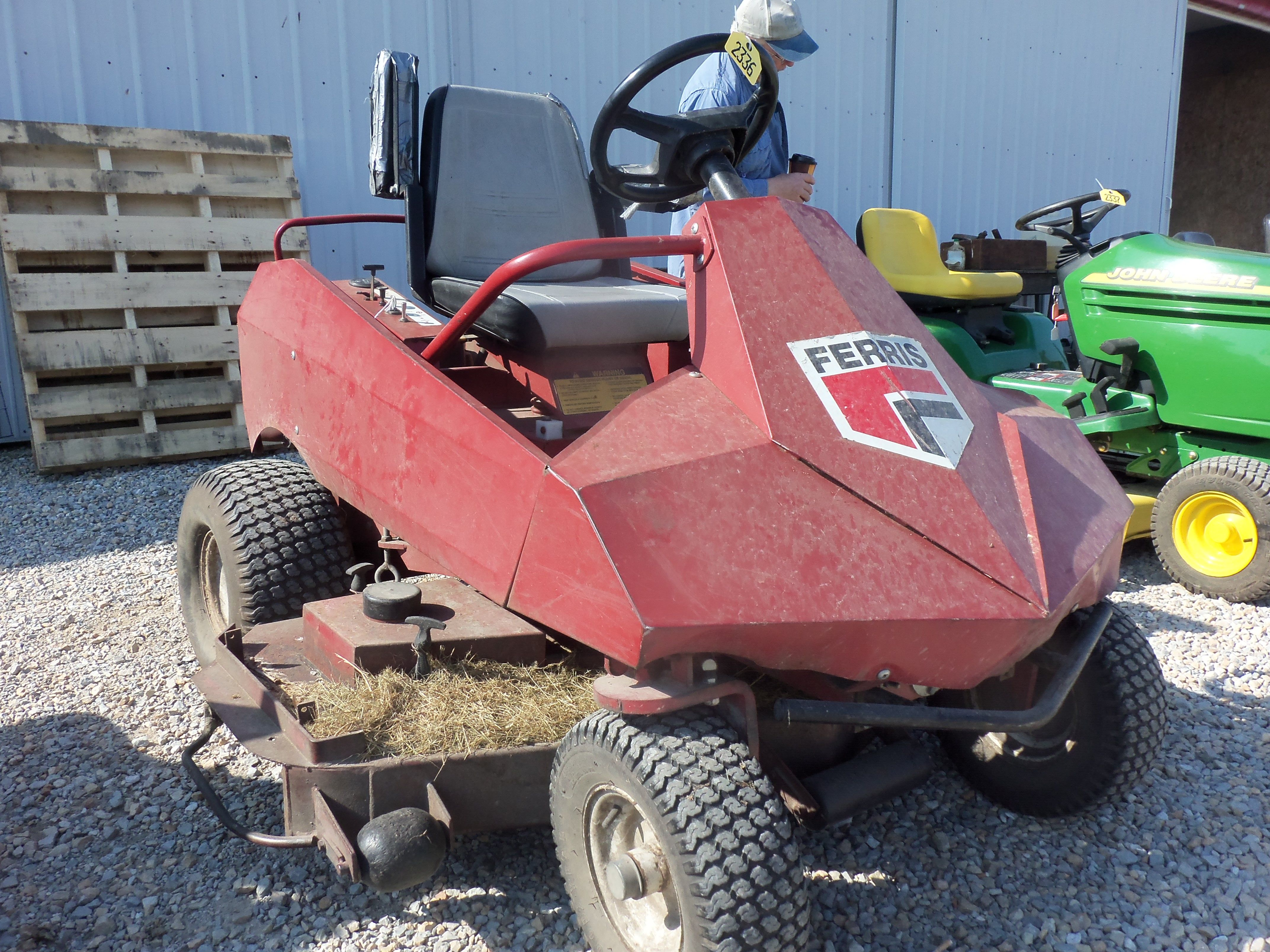 Red Ferris lawn mower | Tractors | Landscaping equipment, Lawn mower