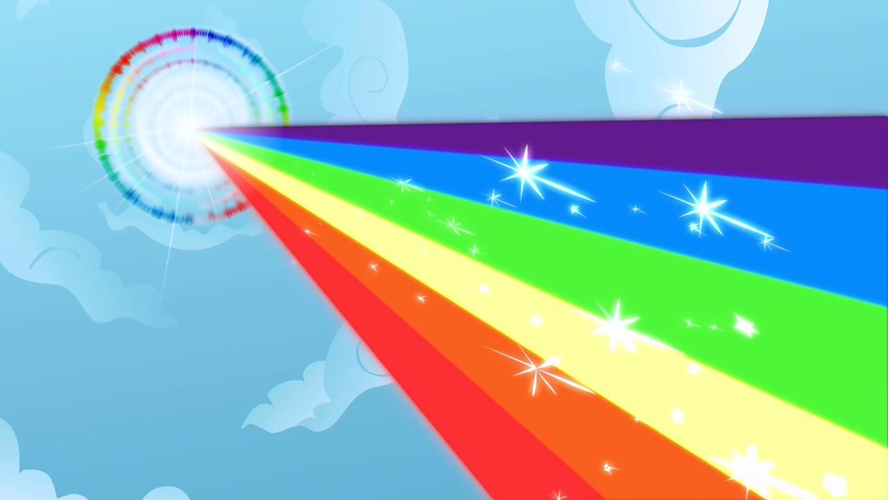Rainbow Dash Doing A Sonic Rainboom Cartoon Wallpaper Mlp My