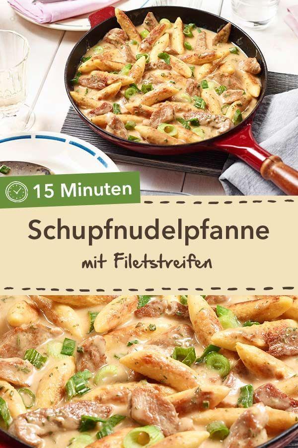 Schupfnudel-Filet-pan recipe -  Fast and delicious: Schupfnudelpfanne with fillet strips in creamy cream sauce.  #fast #schupfnudel - #CookingTips #EasyRecipes #filet #recipe #schupfnudel #SchupfnudelFiletpan #VegetarianRecipes