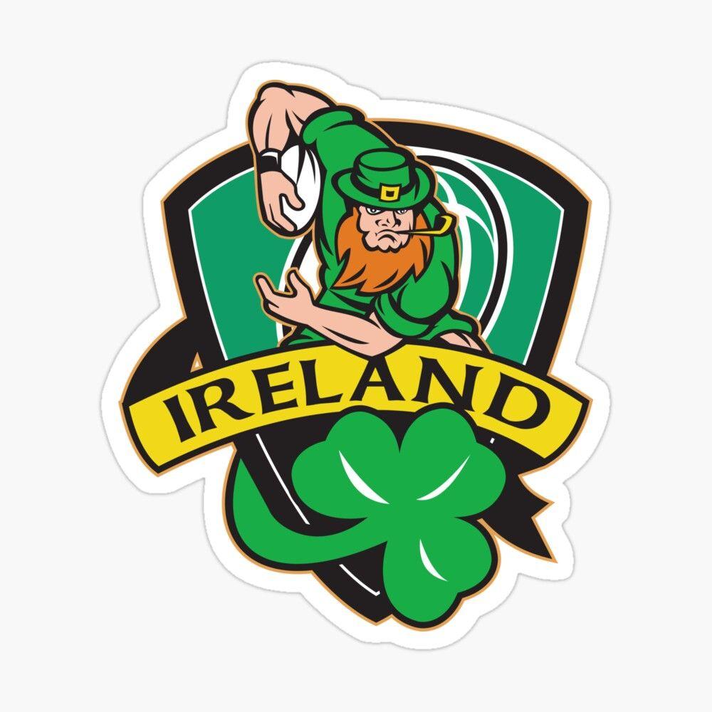 Saint Patricks Day Sticker By Raginiepte In 2021 Shamrock Ireland Ireland Rugby Players Leprechaun [ 1000 x 1000 Pixel ]